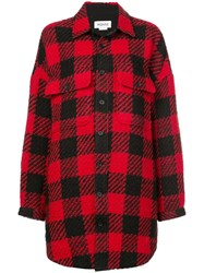 Monse Checked Oversized Shirt Red