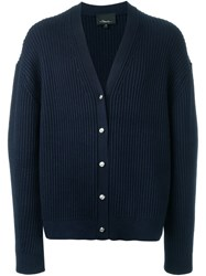 3.1 Phillip Lim Ribbed Oversize Cardigan Blue