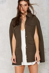 Nasty Gal Femme In Charge Military Cape Jacket