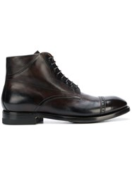 Silvano Sassetti Lace Up Ankle Boots Brown