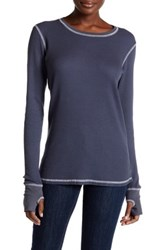 Allen Allen Thermal Knit Long Sleeve Tee Gray