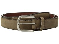 Torino Leather Co. 35Mm Waxed Nubuck Shoulders Loden Belts Green