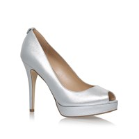 Michael Kors York Platform Court Shoes Silver