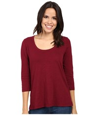 Mod O Doc Slub Jersey 3 4 Sleeve Scoopneck Tee Chianti Women's Long Sleeve Pullover Red
