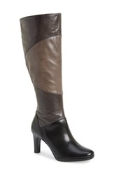 Women's Naturalizer 'Analise' Tall Boot Black Grey Wide Calf
