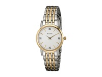 Bulova Diamonds 98P115 Two Tone Dress Watches Metallic