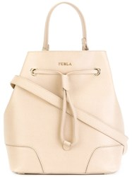 Furla Bucket Bag With Drawstring Fastening Nude Neutrals