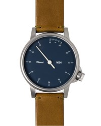 Miansai M24 Stainless Steel Watch With Leather Strap London Tan Men's