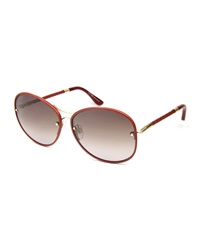 Tod's Braided Round Metal Sunglasses Red