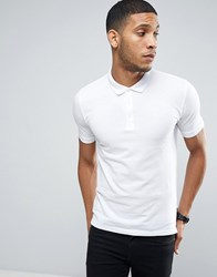 Only And Sons Pique Polo In Slim Fit White