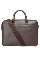 Michael Kors Odin Leather Large Briefcase Brown