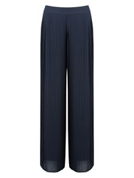 Jacques Vert Chiffon Pleated Trouser Navy