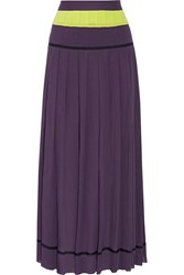 M Missoni Plisse Cotton Gauze Maxi Skirt Purple