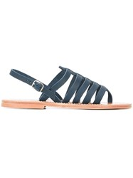 K. Jacques Homer Strappy Sandals Blue