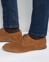 Frank Wright Busby Derby Shoes In Tan Suede Tan