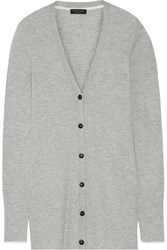 Rag And Bone Rag And Bone Alexandra Ribbed Cashmere Cardigan Light Gray