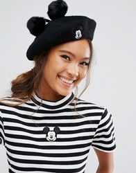 Lazy Oaf X Disney Mickey Mouse Beret Black
