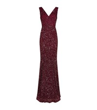 Rachel Gilbert Xandra Embellished Gown Female Red