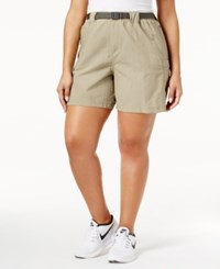 Columbia Plus Size Sandy River Belted Cargo Shorts Rustcopper