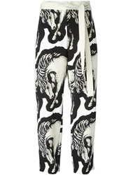 Issa Horse Print Tie Fastening Trousers