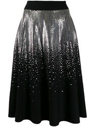 Givenchy Sequined Midi Skirt Black