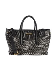 Miu Miu Handbags Black