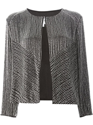 Armani Collezioni Beaded Embellished Jacket Black