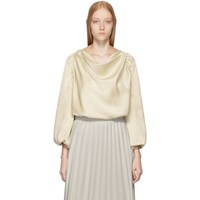 Christophe Lemaire Off White Loose Collar Top