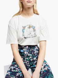 People Tree Moomin Couple Organic Cotton T Shirt White