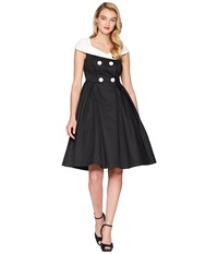 Unique Vintage Barbie X Uv After Five Swing Dress Black White
