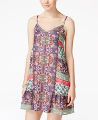 American Rag Juniors' Printed Shift Dress Only At Macy's Sugar Stripe Print