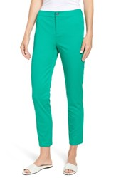Chaus Straight Leg Twill Ankle Pants Gallery Green