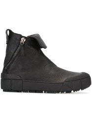 Emporio Armani Folded Ankle Boots Black