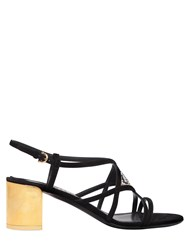 Salvatore Ferragamo 55Mm Emmy Mosaic Suede Sandals