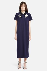 Opening Ceremony Embroidered Pique Polo Dress Navy Multi