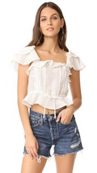 For Love And Lemons Crema Blouse White