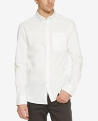 Kenneth Cole New York Men's Button Down Long Sleeve Shirt White
