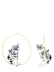 Nach White Tiger Earrings