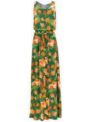 Isolda Rebeca Long Dress Green