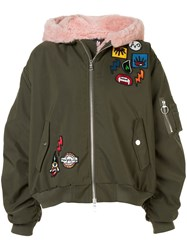 Haculla Aberrant Patch Bomber Jacket Green