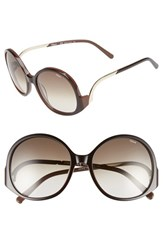 Chloe Women's Chloe 'Emilia' 57Mm Round Sunglasses Brown Chocolate Regular Retail Price 296.00