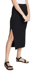 Edition10 Ribbed Skirt With Slit Black