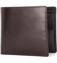 Launer Bifold Leather Wallet Brown