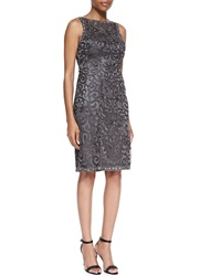 Sue Wong Embellished Scroll Sheath Dress