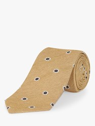 Jaeger Floral Spot Silk Cotton Tie Yellow