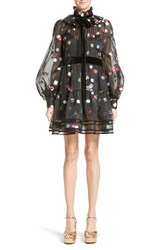 Marc Jacobs Women's Licorice Fil Coupe Balloon Sleeve Dress