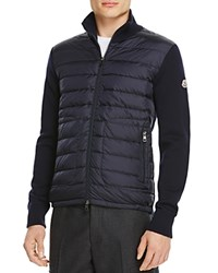 Moncler Knit Down Stand Collar Jacket Navy