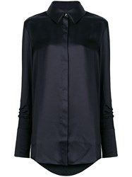 Victoria Beckham Long Sleeve Fitted Shirt Black