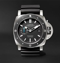 Officine Panerai Luminor Submersible 1950 Amagnetic 3 Days Automatic 47Mm Titanium And Rubber Watch Black