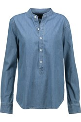 3X1 Wt Mandarin Collar Popover Denim Shirt Light Denim